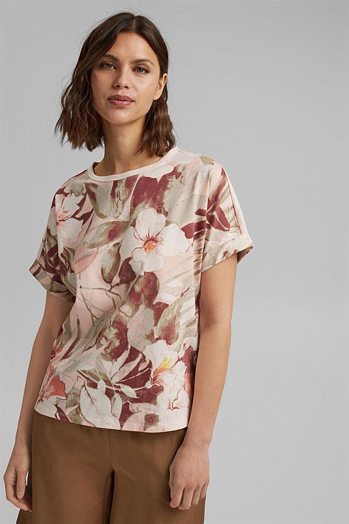 T-Shirt mit Print, 100% Organic Cotton, LIGHT PINK, detail image number 0