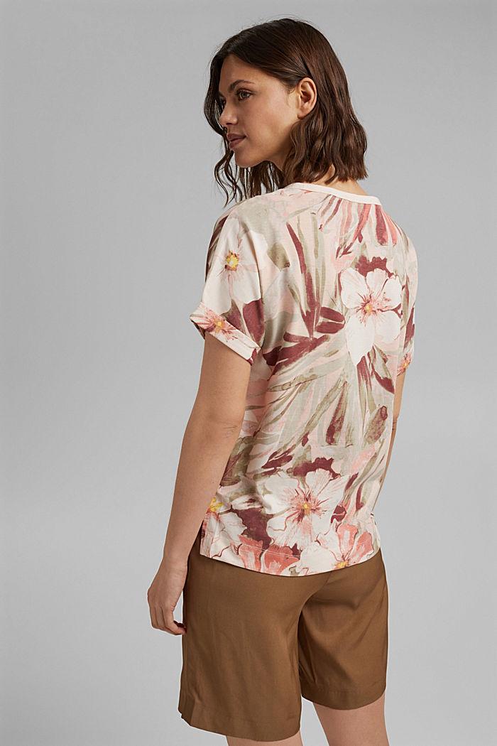 T-Shirt mit Print, 100% Organic Cotton, LIGHT PINK, detail image number 3