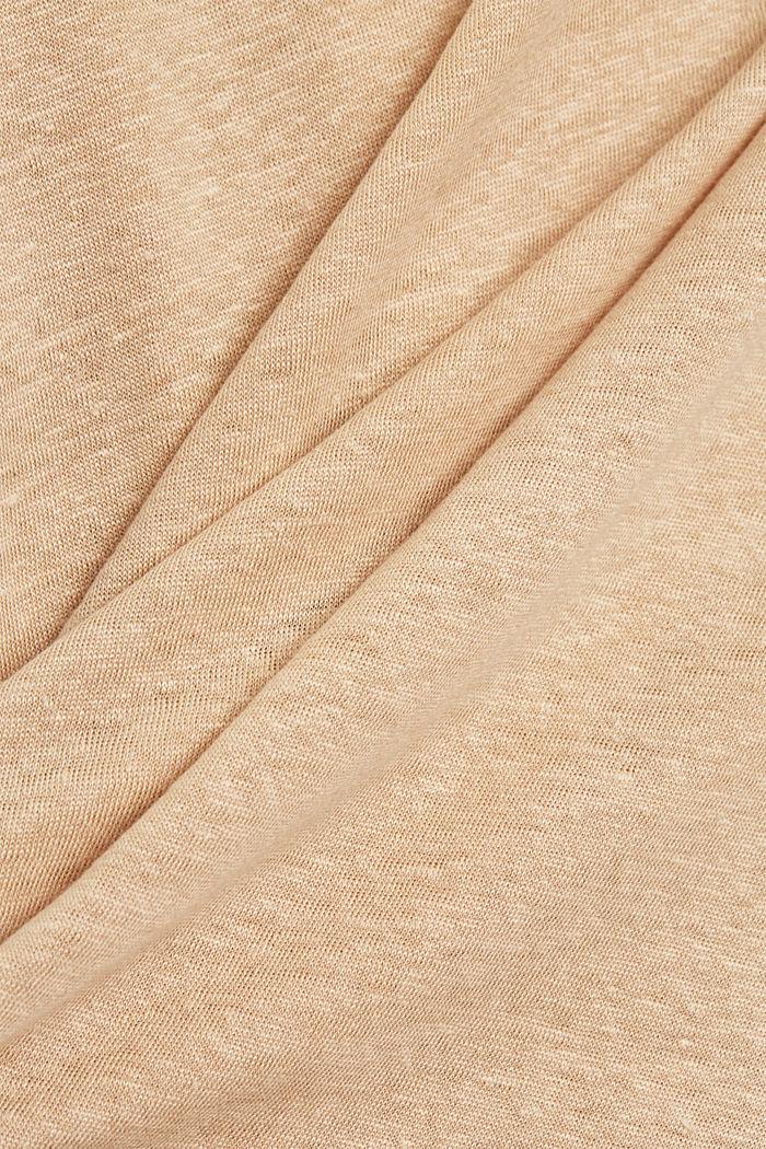 Aus Leinen: Print-T-Shirt, DUSTY NUDE, detail image number 4