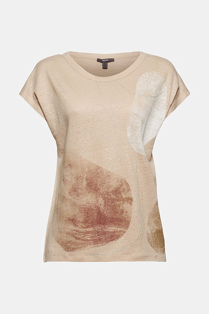 Made of linen: printed T-shirt