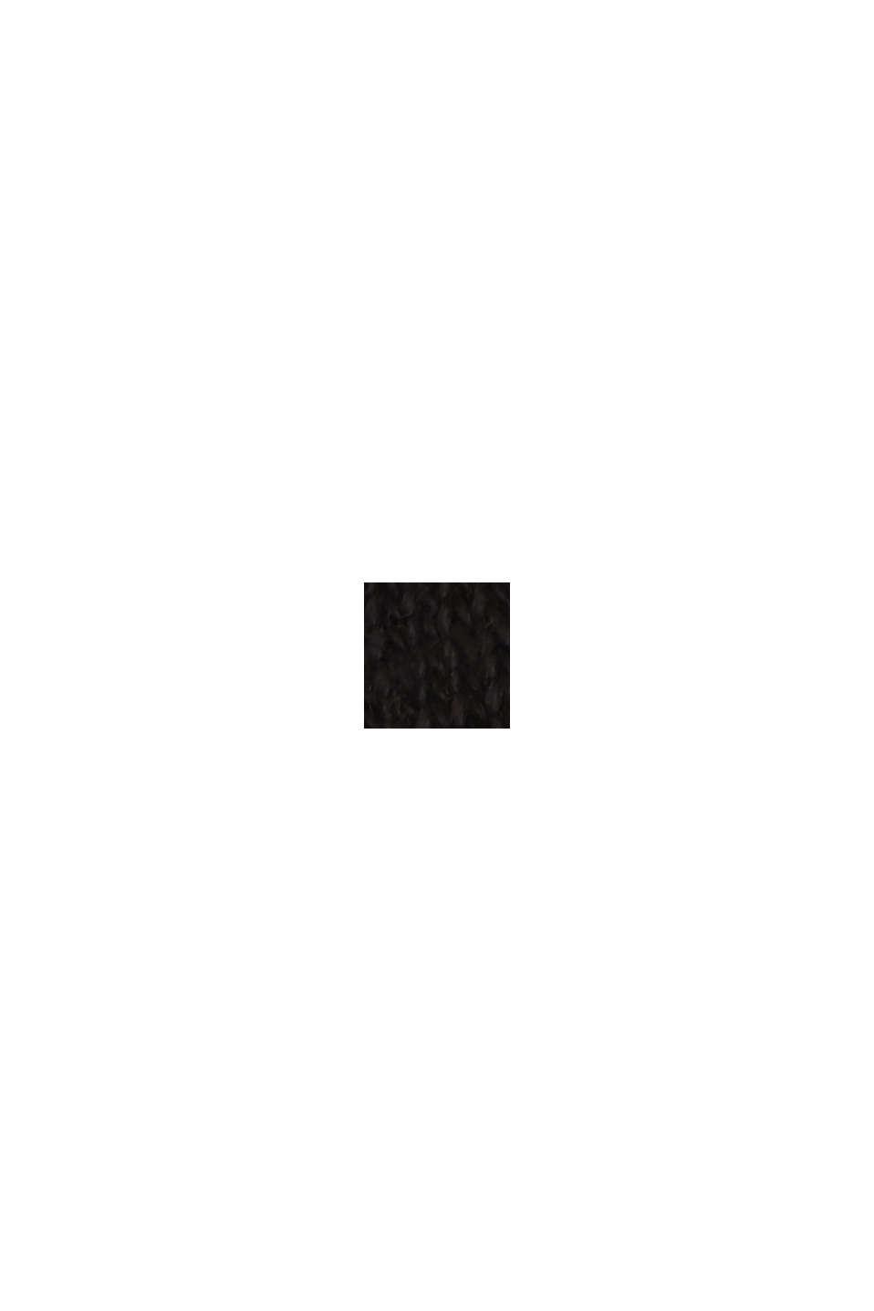 En lino: camiseta con cuello de polo, BLACK, swatch