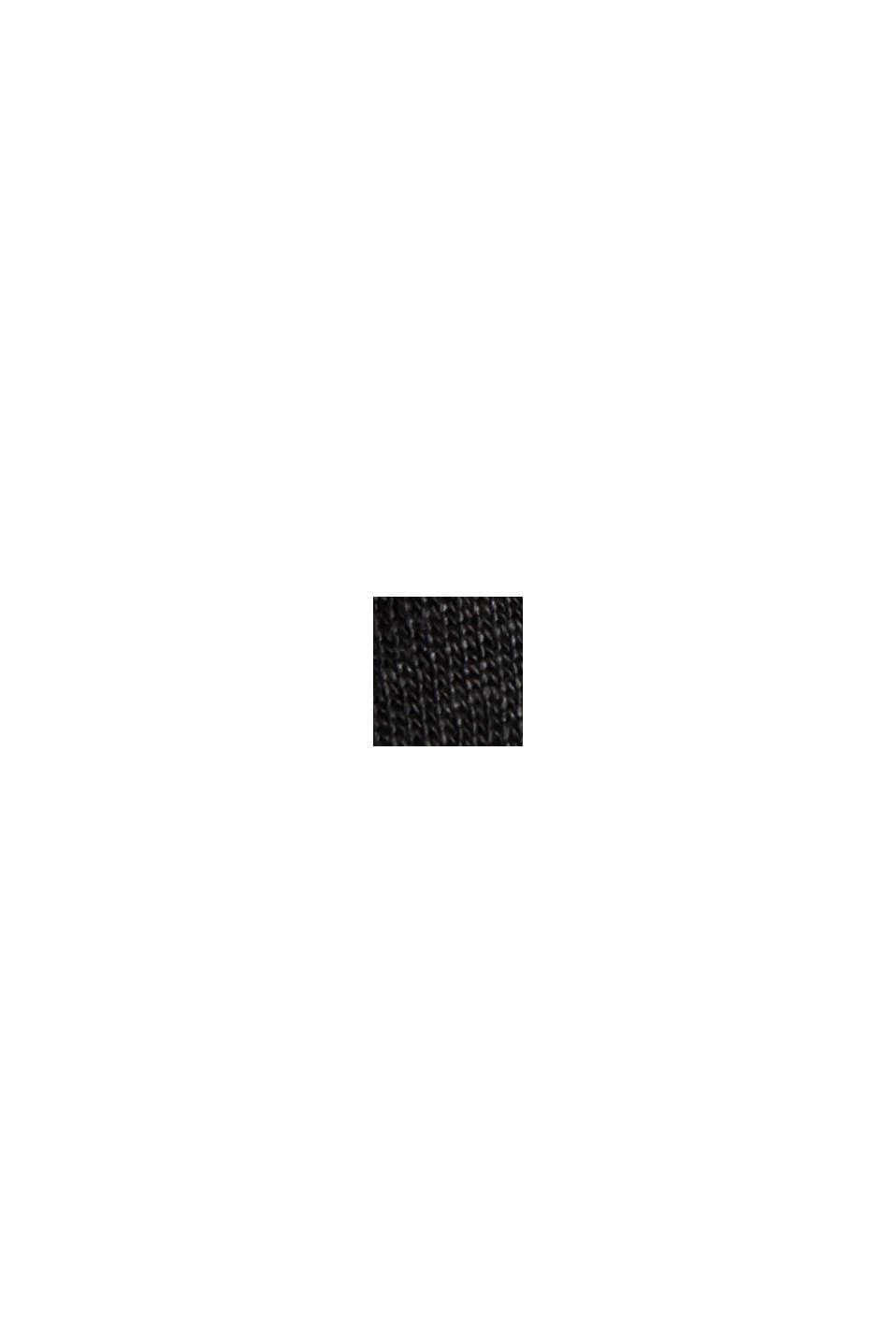 Aus 100% Leinen: Tanktop mit V-Ausschnitt, BLACK, swatch