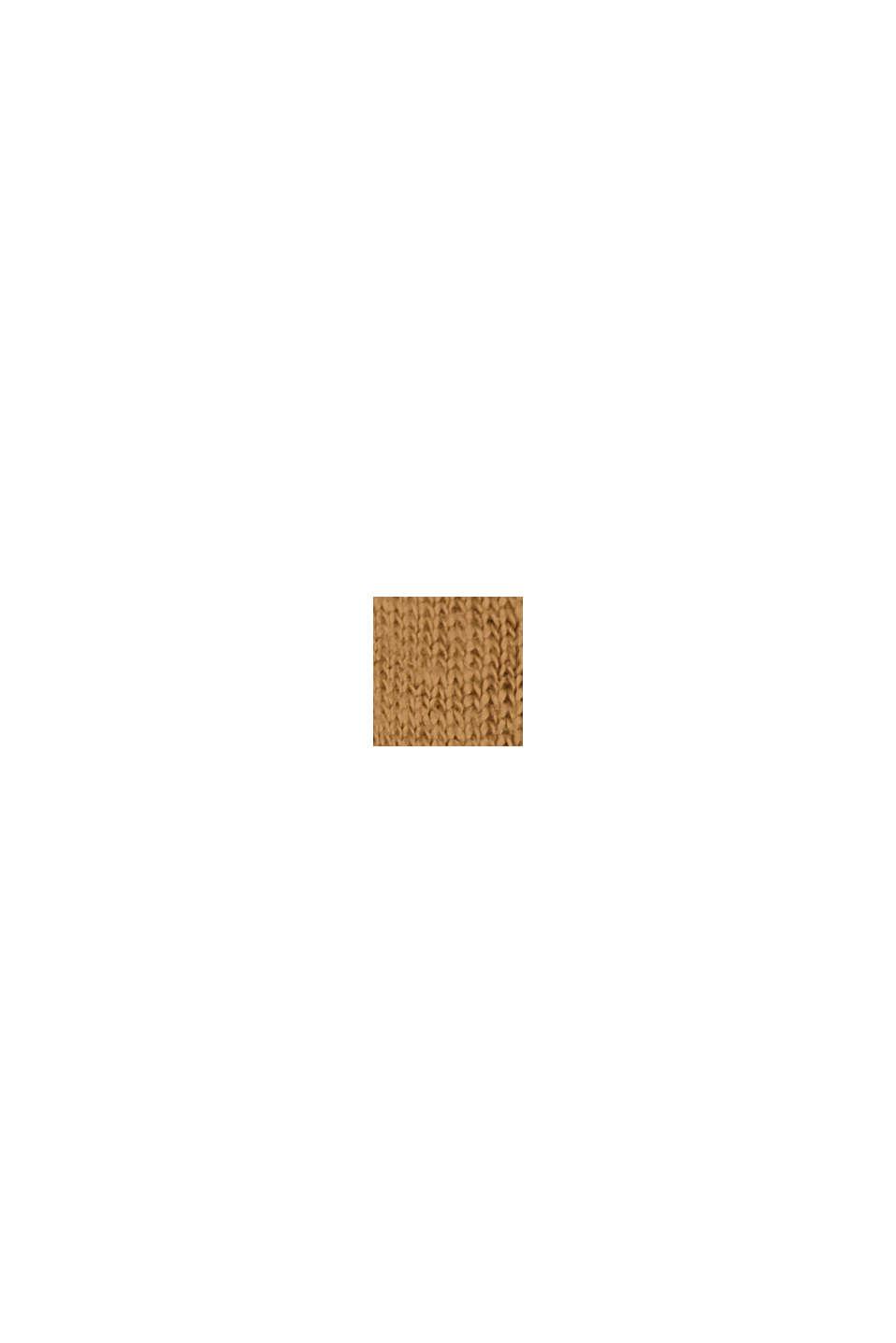 Made of 100% linen: V-neck sleeveless top, BARK, swatch