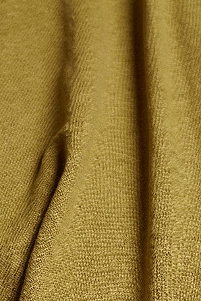100 % pellavaa: hihaton V-aukkotoppi, OLIVE, detail image number 4