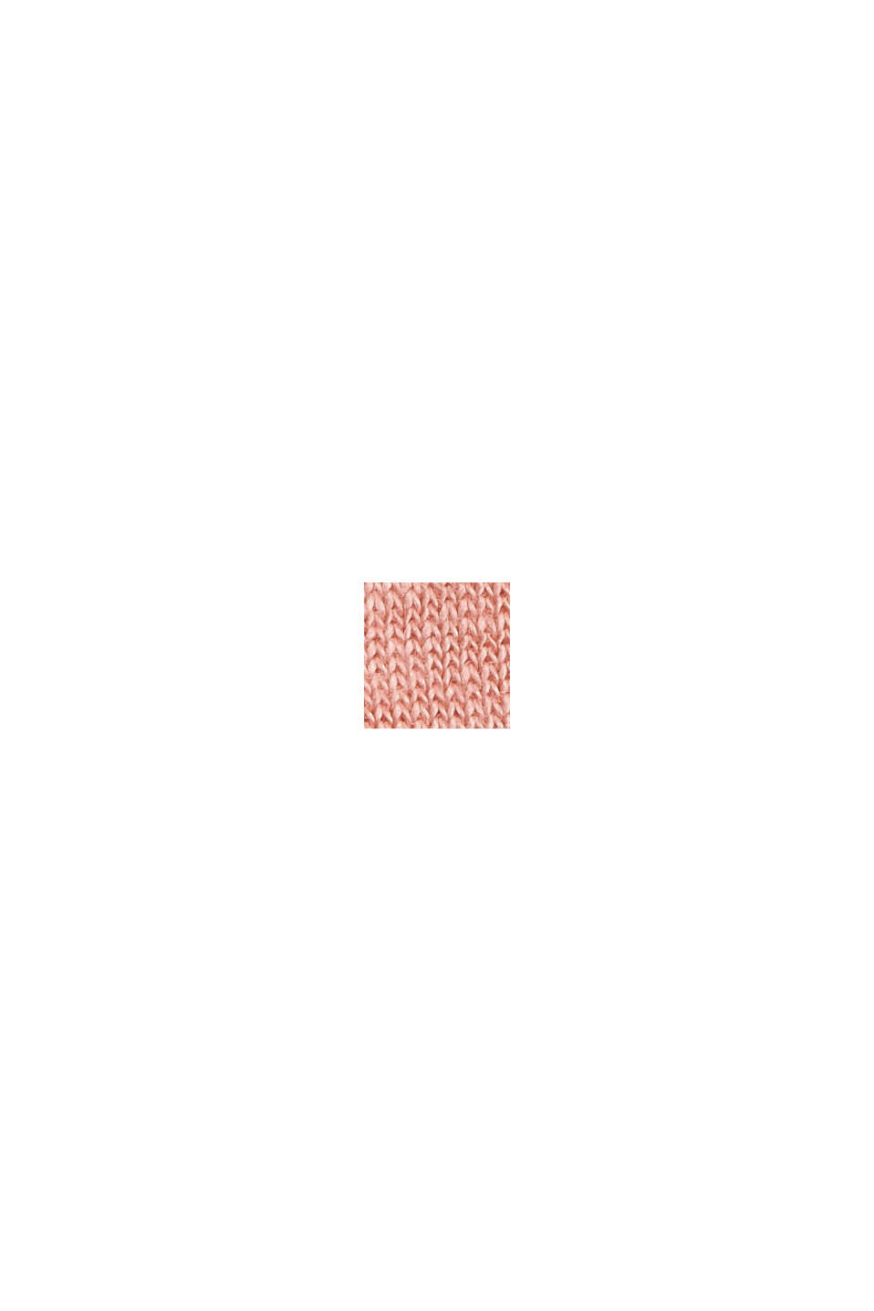 Made of 100% linen: V-neck sleeveless top, SALMON, swatch