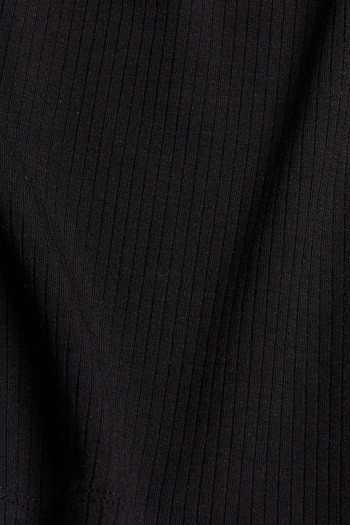 Made of TENCEL™ stretch: ribbed top, BLACK, detail image number 4