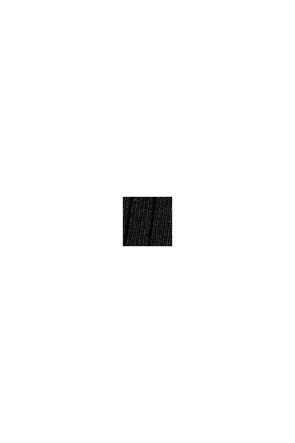 Aus TENCEL™-Stretch: Top mit Ripp-Struktur, BLACK, swatch
