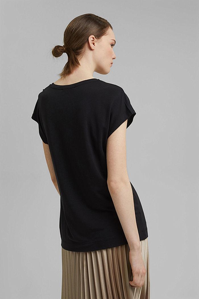 T-Shirt aus TENCEL™ x REFIBRA™, BLACK, detail image number 3