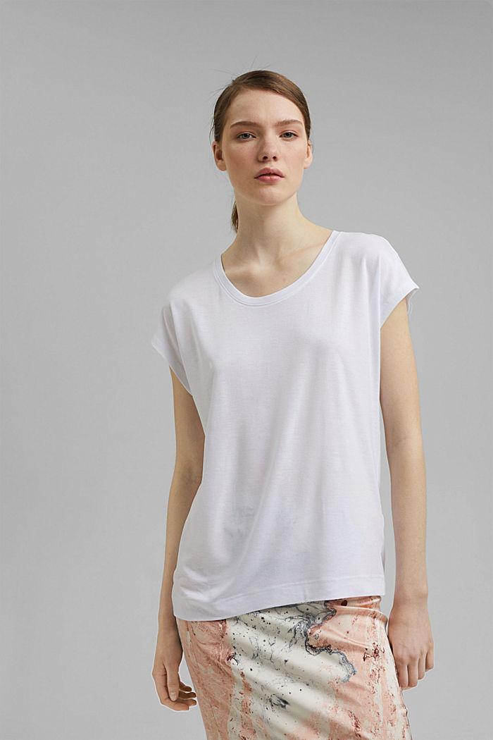 T-Shirt aus TENCEL™/Modal, WHITE, detail image number 0
