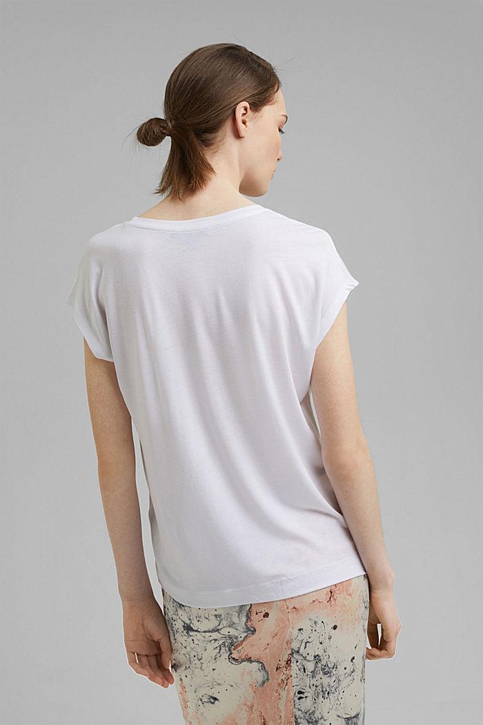 T-Shirt aus TENCEL™/Modal, WHITE, detail image number 3