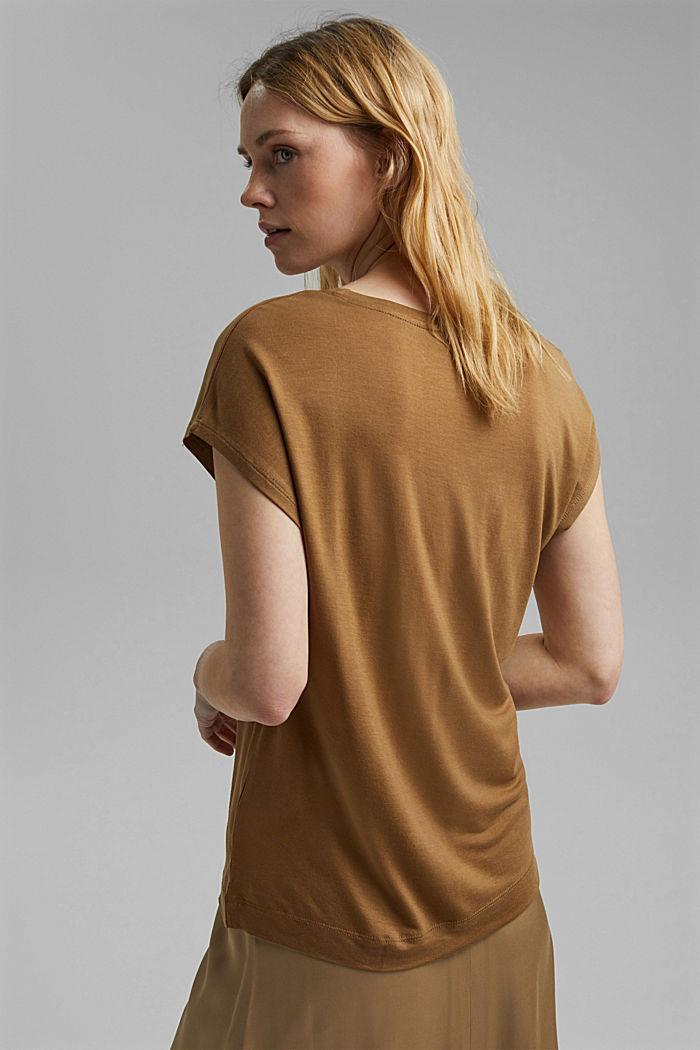 T-shirt made of TENCEL™ model, BARK, detail image number 3