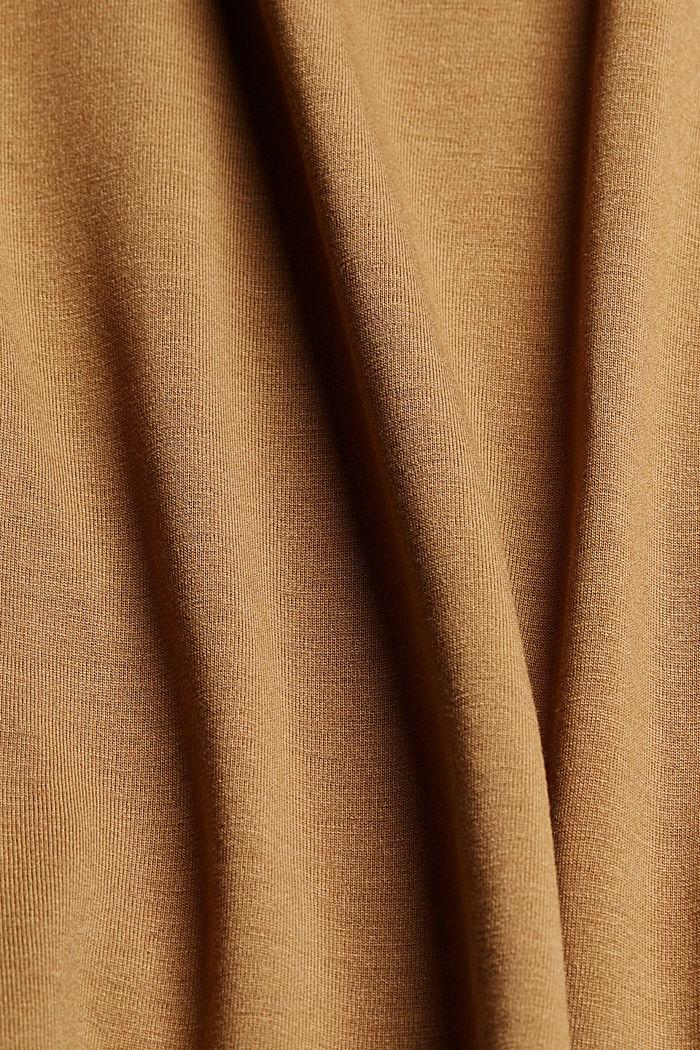 T-shirt made of TENCEL™ model, BARK, detail image number 4