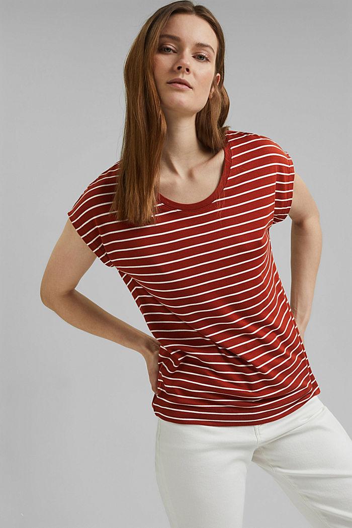 T-shirt made of TENCEL™ x REFIBRA™, TERRACOTTA, detail image number 0