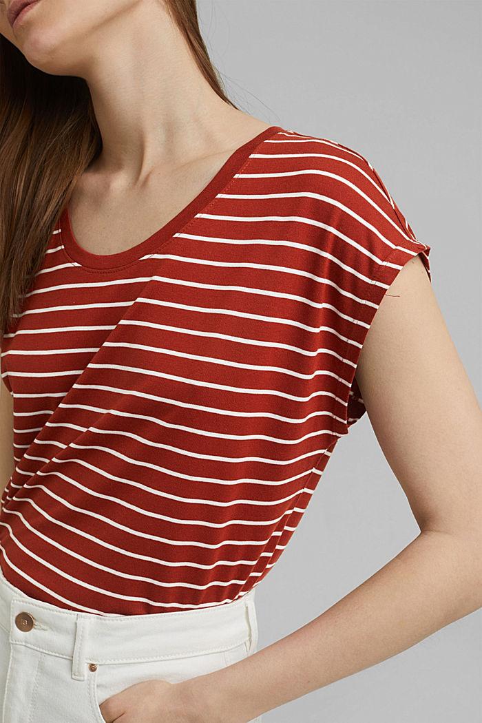 T-shirt made of TENCEL™ x REFIBRA™, TERRACOTTA, detail image number 2