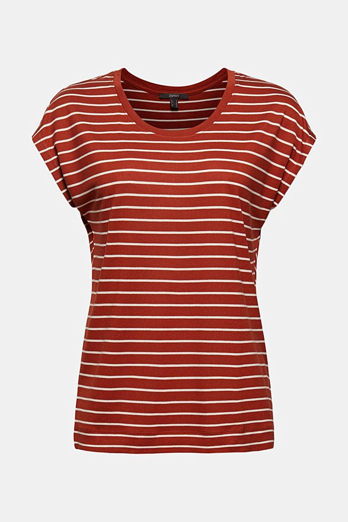 T-shirt made of TENCEL™ x REFIBRA™, TERRACOTTA, detail image number 7