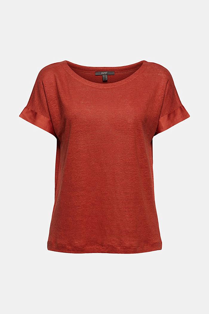 En lin: le t-shirt à liserés contrastants