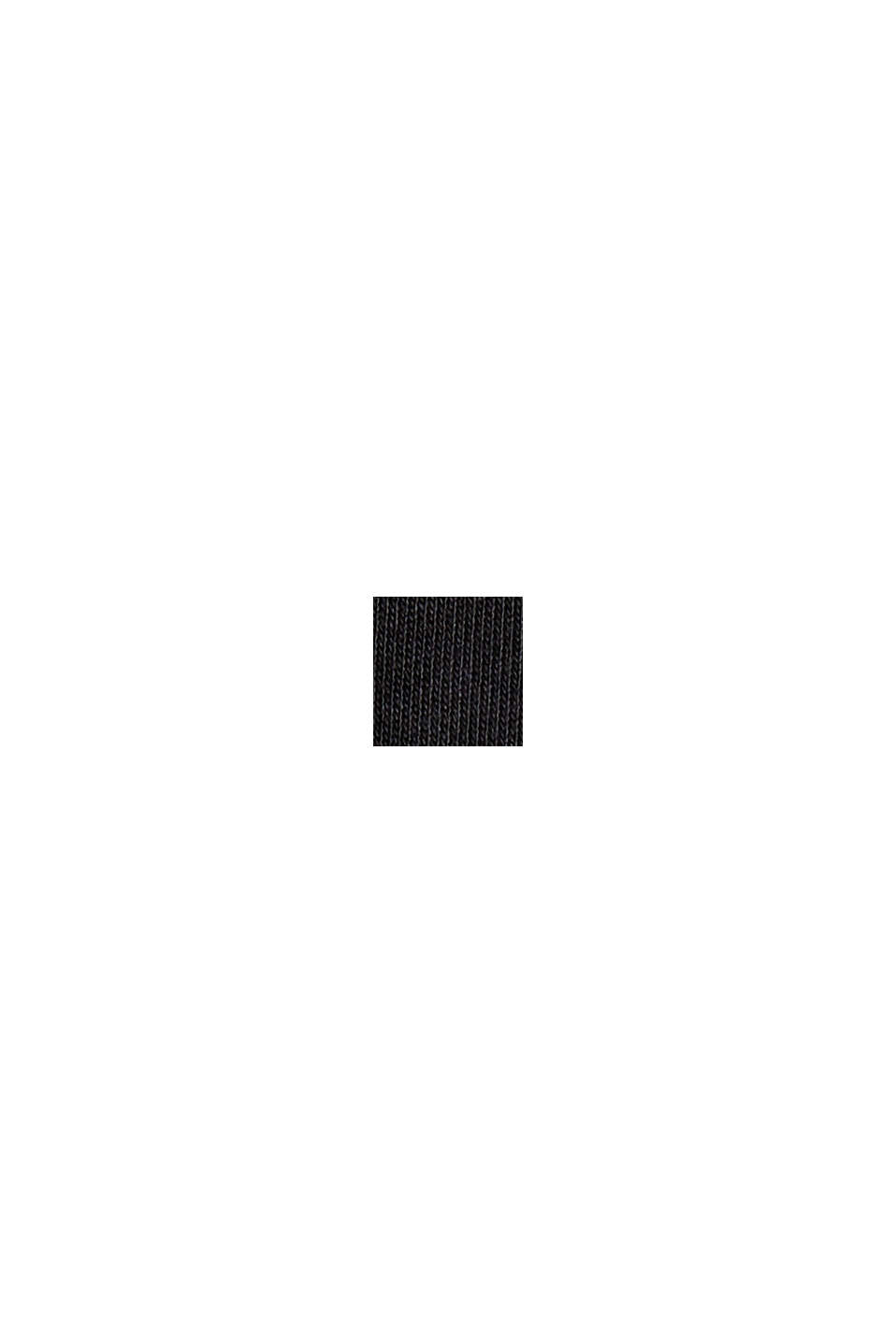 Mit TENCEL™: V-Neck-Shirt aus Interlock-Jersey, BLACK, swatch