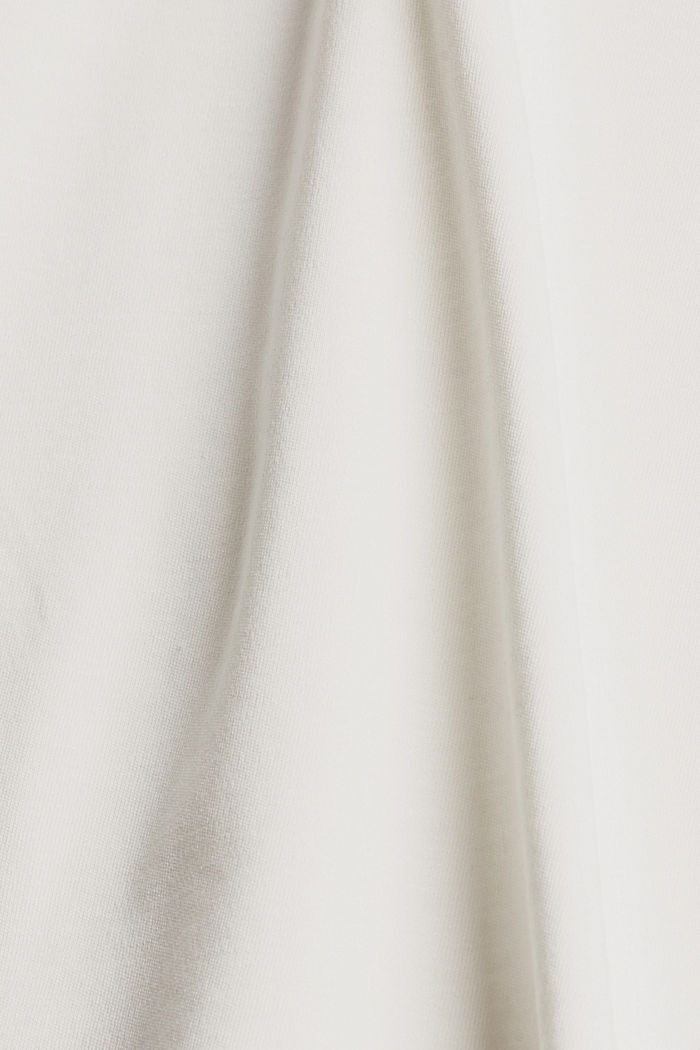 Containing TENCEL™: V-neck T-shirt made of interlock jersey, OFF WHITE, detail image number 4