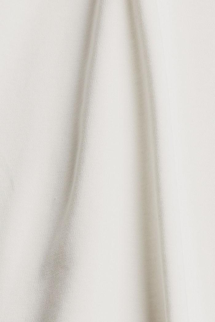 Mit TENCEL™: V-Neck-Shirt aus Interlock-Jersey, OFF WHITE, detail image number 4