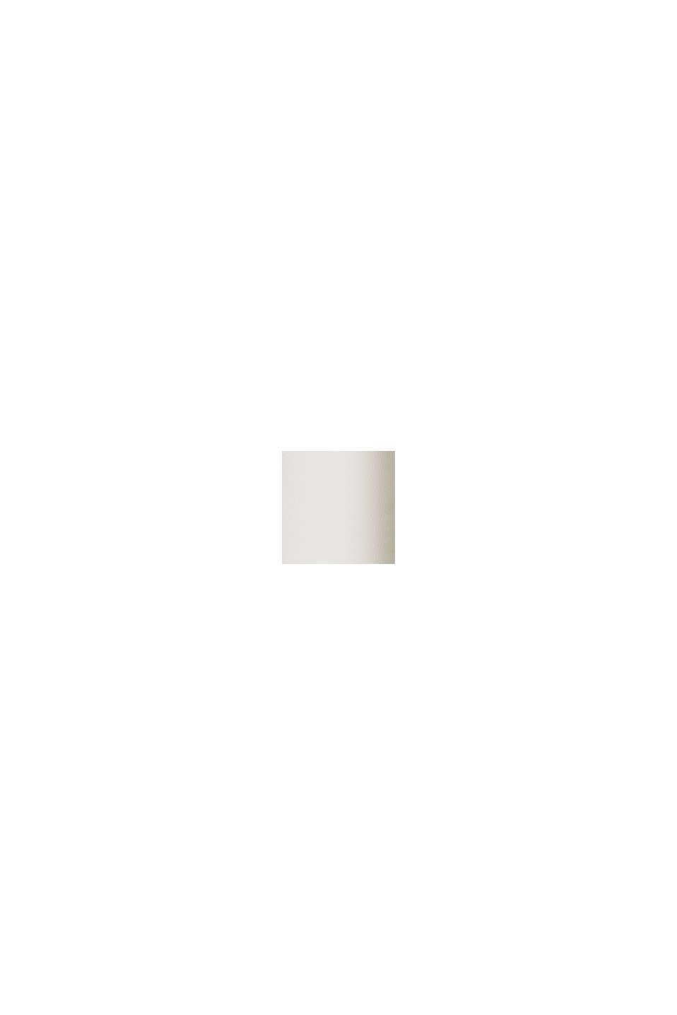 Mit TENCEL™: V-Neck-Shirt aus Interlock-Jersey, OFF WHITE, swatch