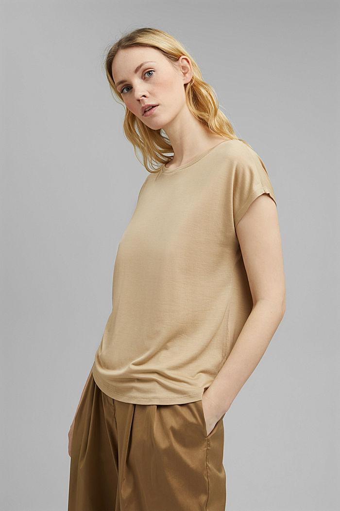 T-Shirt aus TENCEL™ Lyocell, BEIGE, detail image number 0