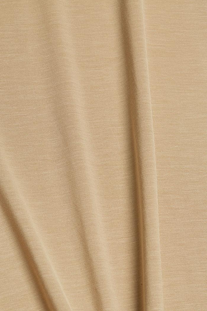 T-Shirt aus TENCEL™ Lyocell, BEIGE, detail image number 4
