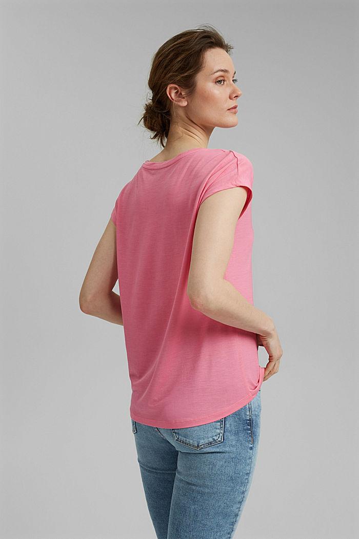 T-Shirt aus TENCEL™ Lyocell, PINK, detail image number 3