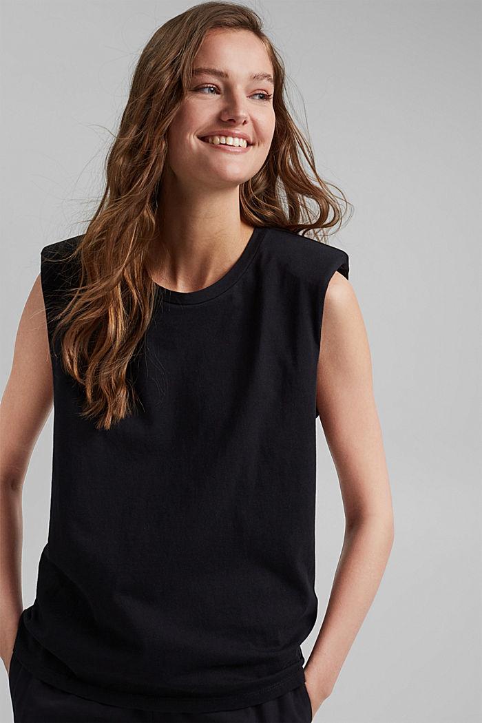 T-Shirt mit Schulterpolstern, 100% Bio-Baumwolle