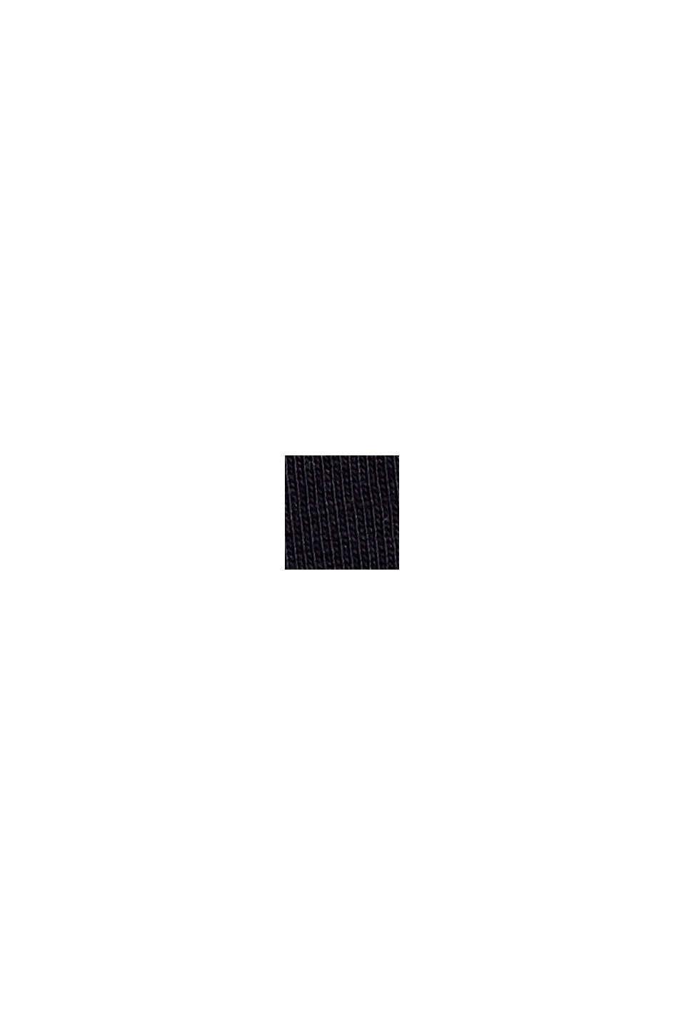T-Shirt mit Schulterpolstern, 100% Bio-Baumwolle, BLACK, swatch