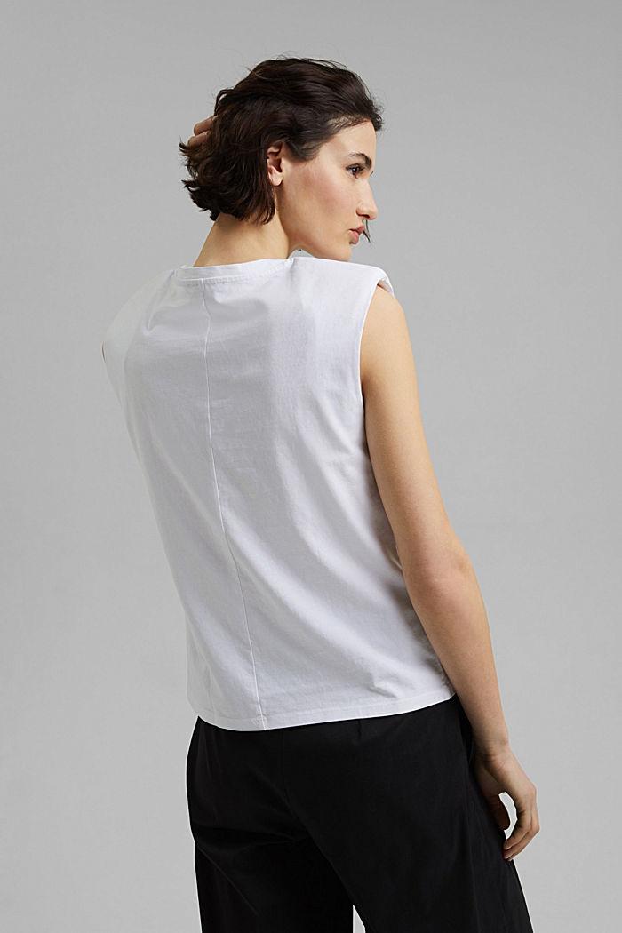 T-Shirt mit Schulterpolstern, 100% Bio-Baumwolle, WHITE, detail image number 3