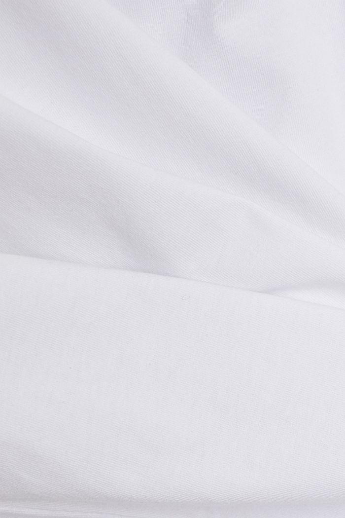 T-Shirt mit Schulterpolstern, 100% Bio-Baumwolle, WHITE, detail image number 4