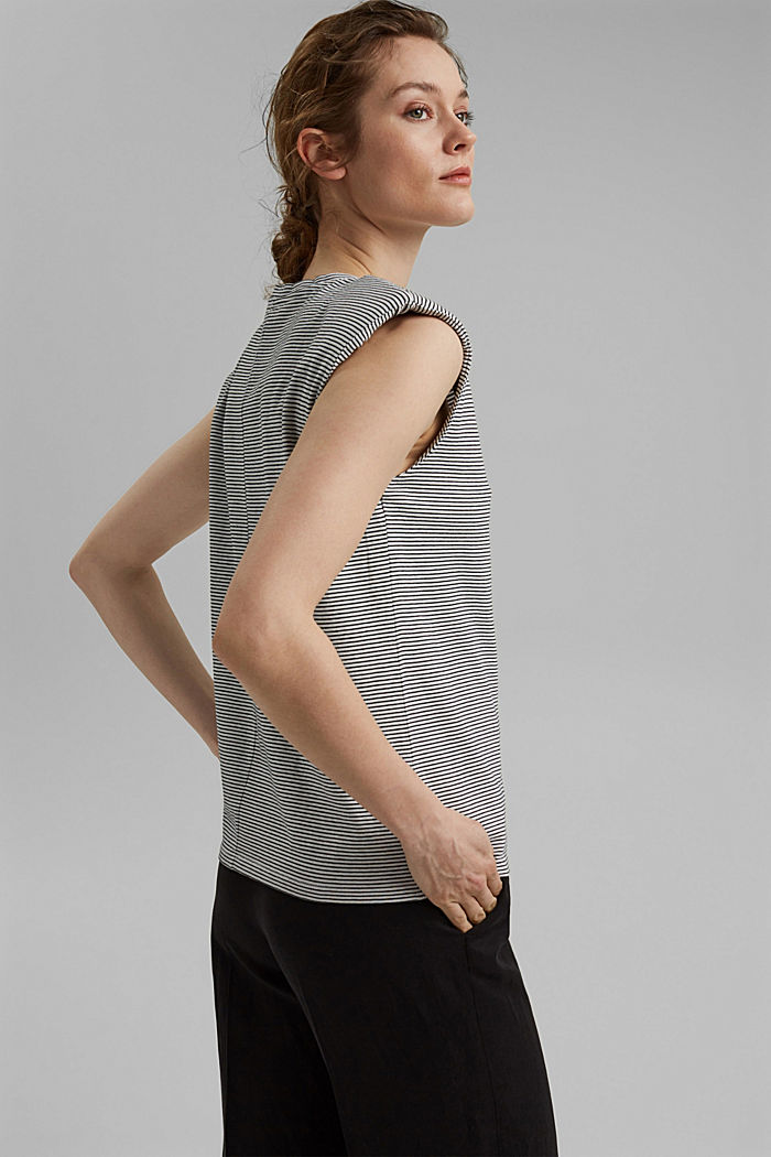 T-shirt with shoulder pads, 100% organic cotton, OFF WHITE, detail image number 3