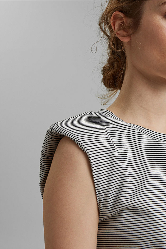 T-shirt with shoulder pads, 100% organic cotton, OFF WHITE, detail image number 2