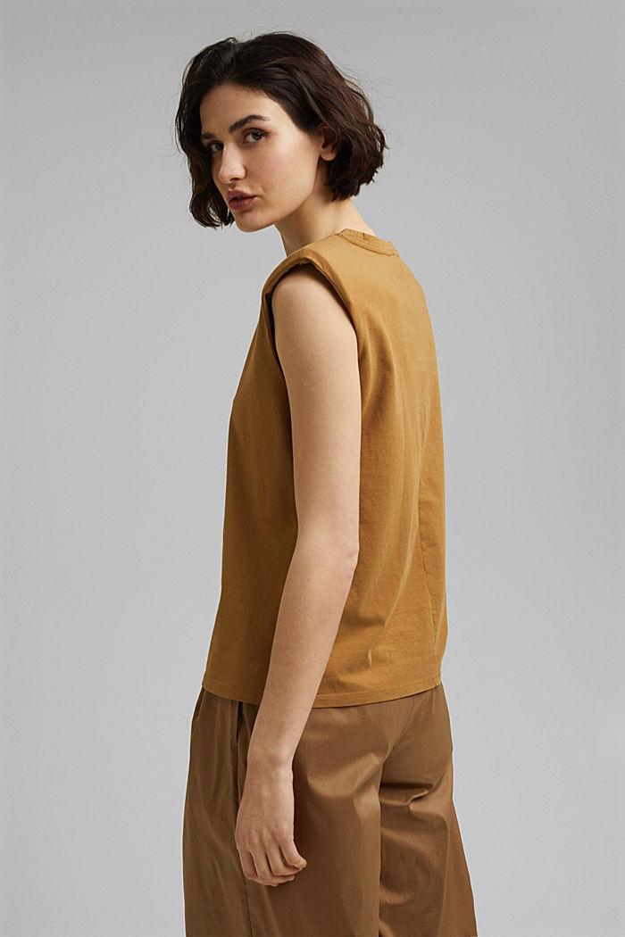 T-Shirt mit Schulterpolstern, 100% Bio-Baumwolle, BARK, detail image number 3