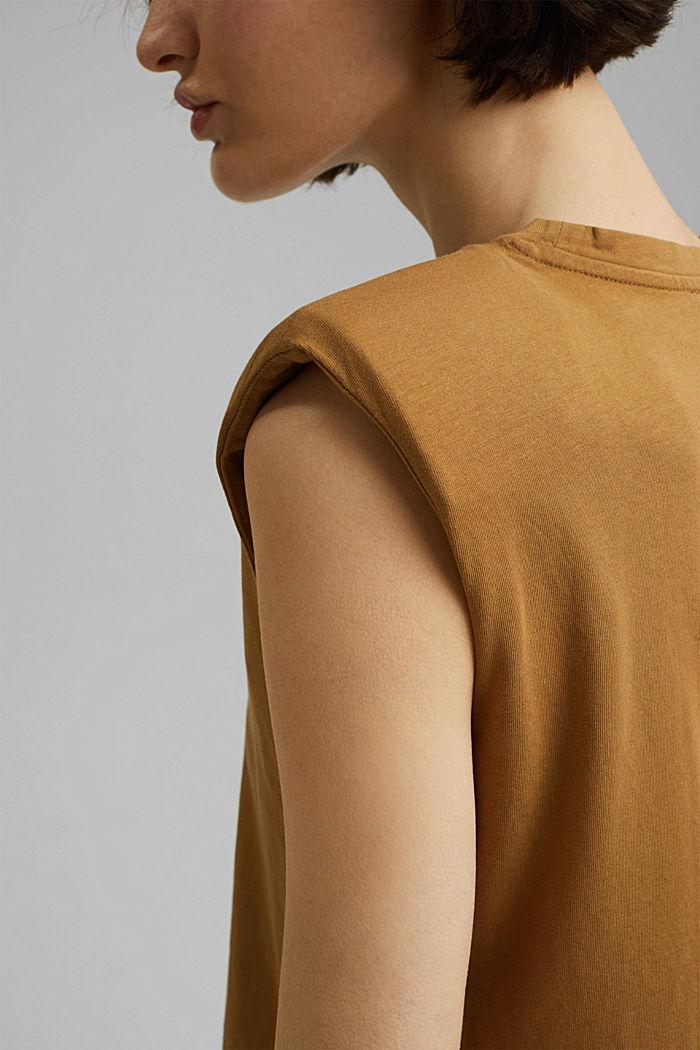 T-Shirt mit Schulterpolstern, 100% Bio-Baumwolle, BARK, detail image number 2