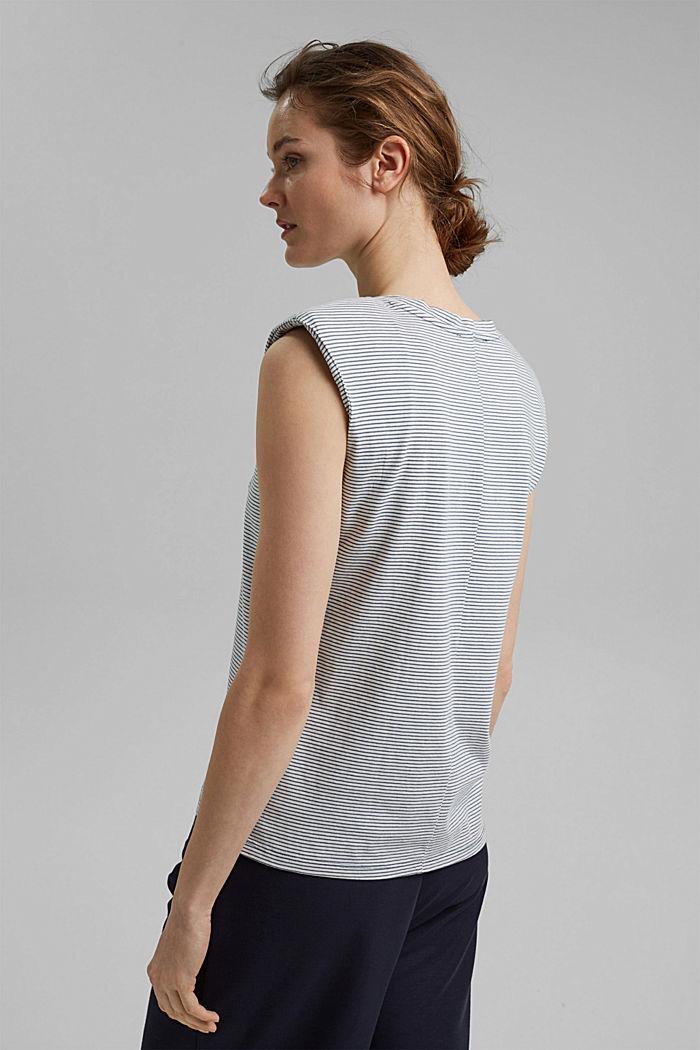 Tričko s ramenními vycpávkami, 100% bio bavlna, GREY BLUE, detail image number 3