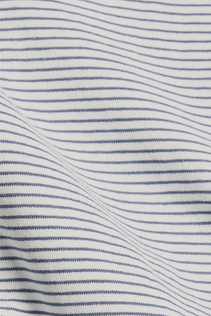 Tričko s ramenními vycpávkami, 100% bio bavlna, GREY BLUE, detail image number 4