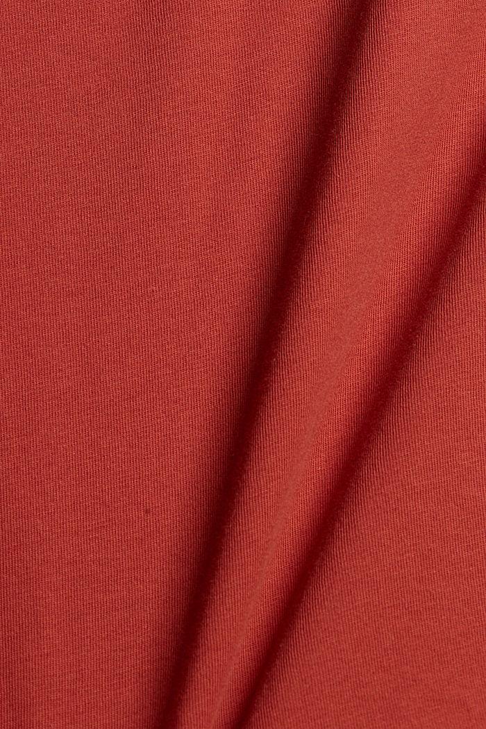 T-paita olkatoppauksilla 100 % luomupuuvillaa, TERRACOTTA, detail image number 4