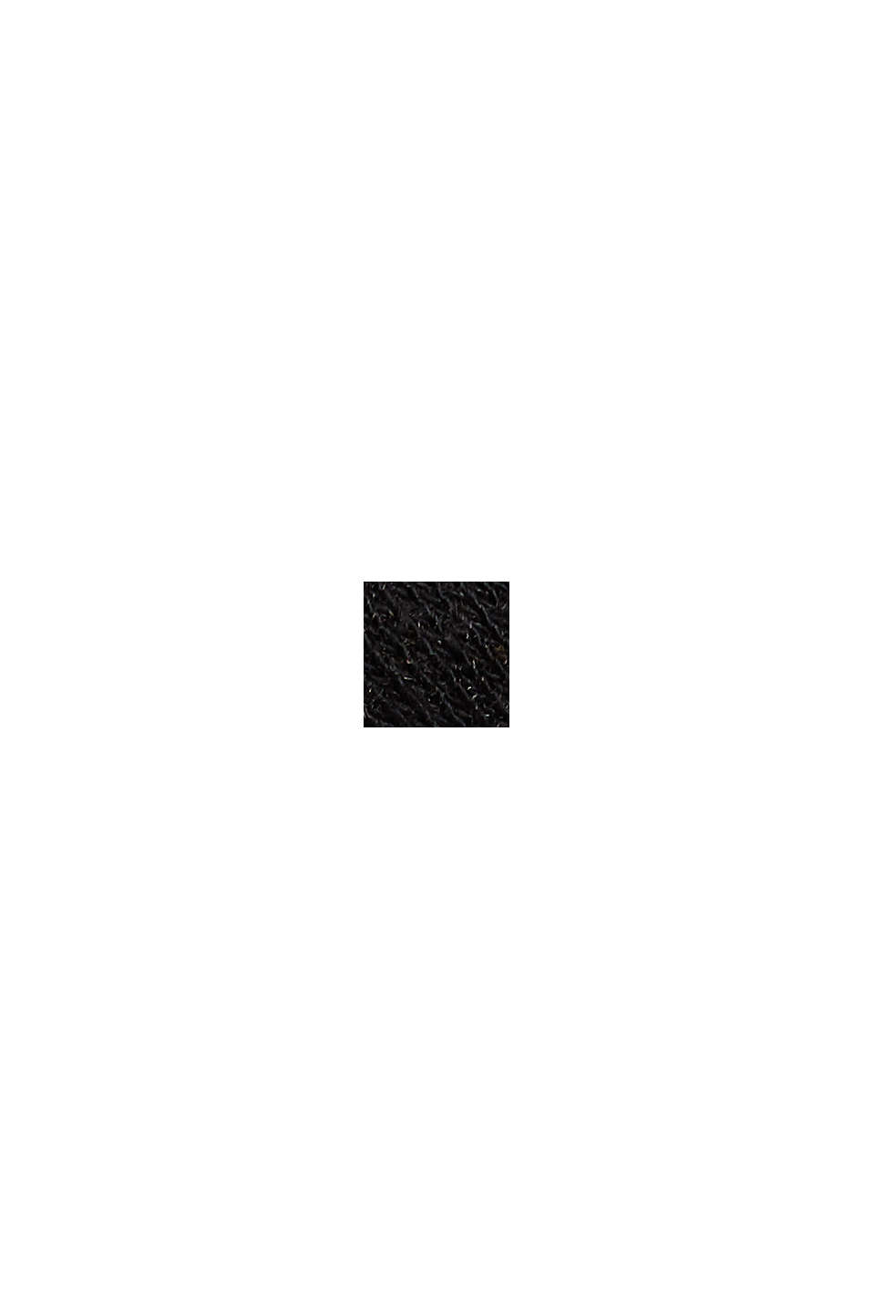 Baumwolle/Leinen: gestreiftes T-Shirt, BLACK, swatch