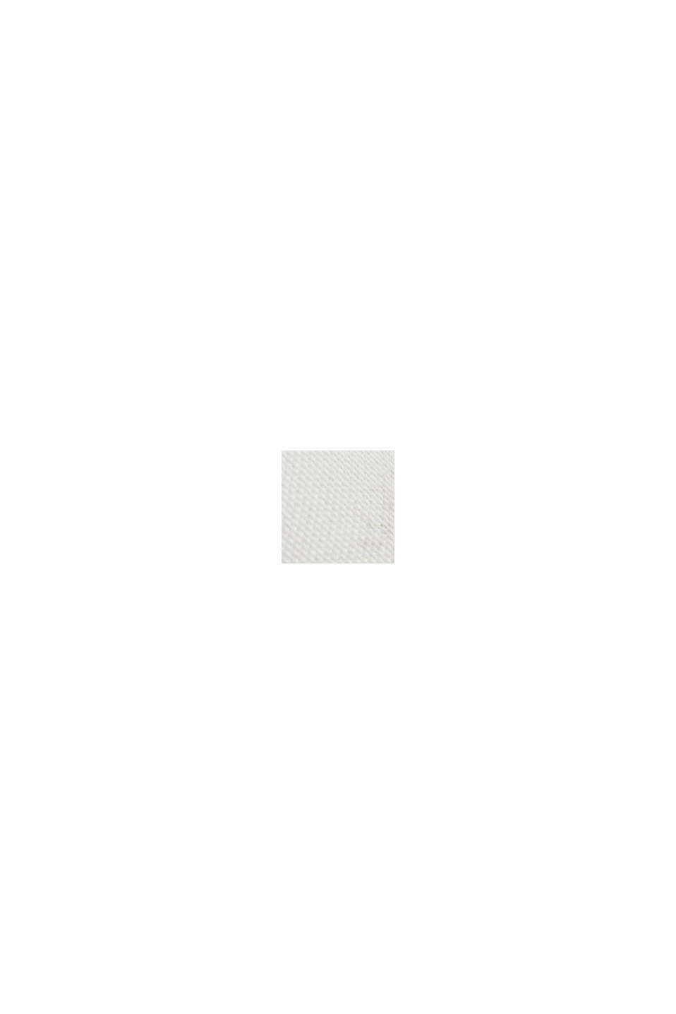Materialmix-Shirt aus LENZING™ ECOVERO™, OFF WHITE, swatch