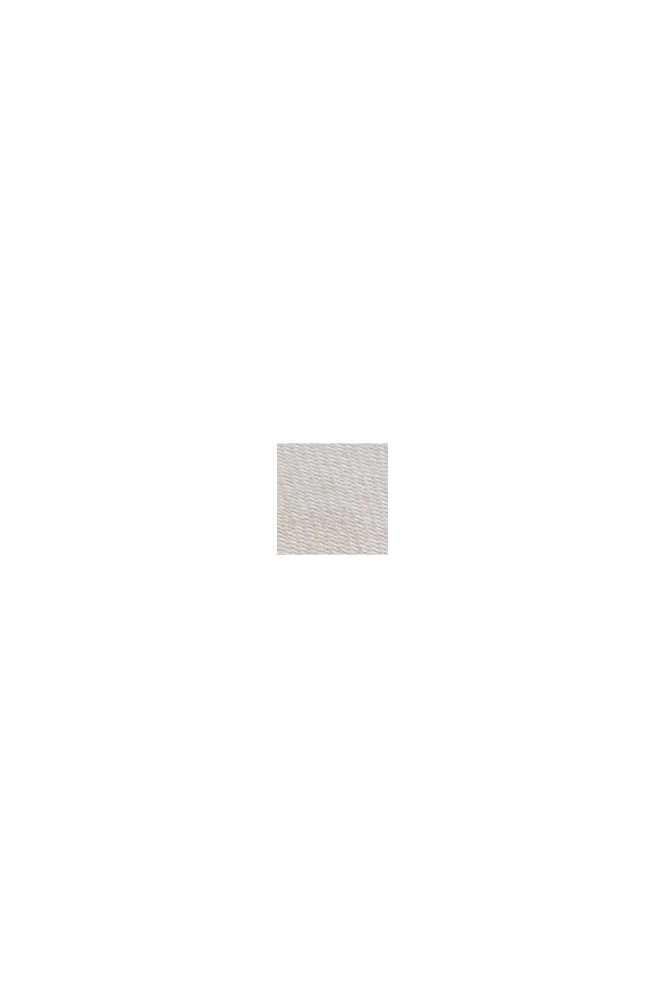 Materialmix-Shirt aus LENZING™ ECOVERO™, LIGHT BEIGE, swatch