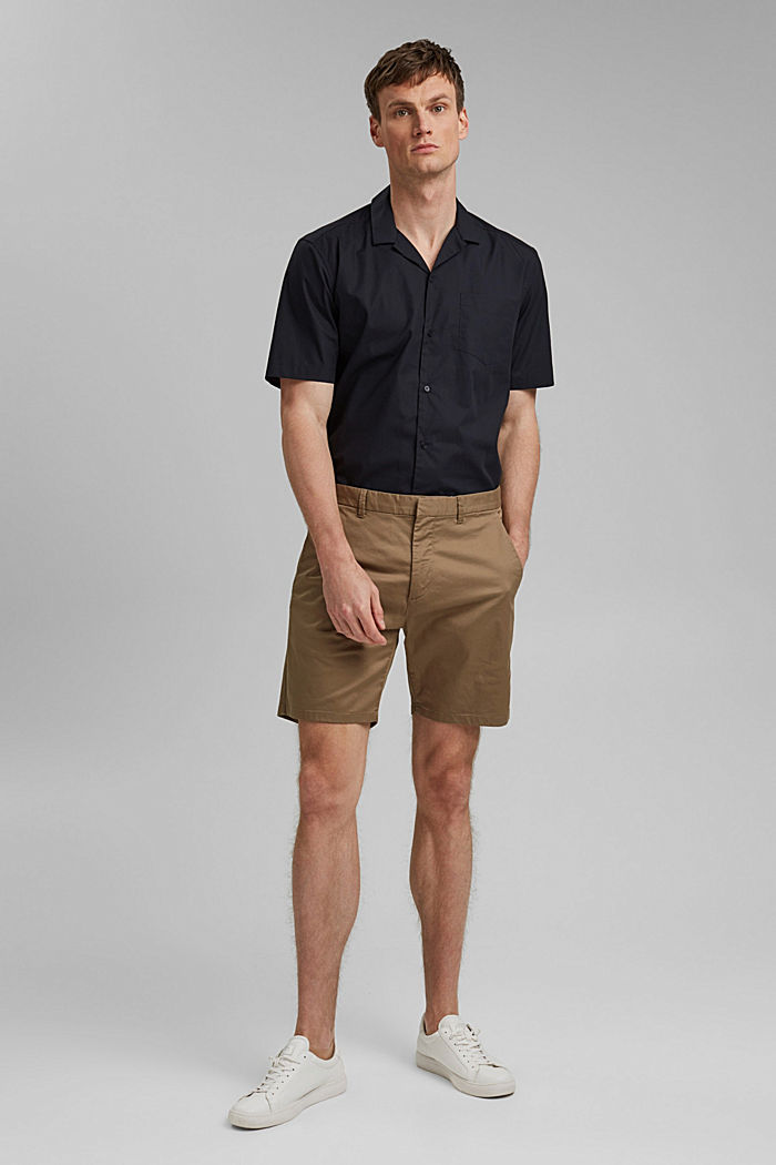 Chino shorts made of organic cotton/Lycra®T400®, BEIGE, detail image number 5