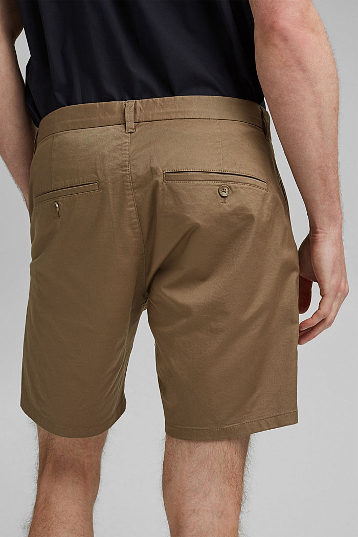 Chino shorts made of organic cotton/Lycra®T400®, BEIGE, detail image number 2