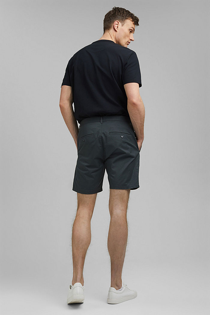 Chino-Shorts aus Bio-Baumwolle/Lycra®T400®, DARK TEAL GREEN, detail image number 3