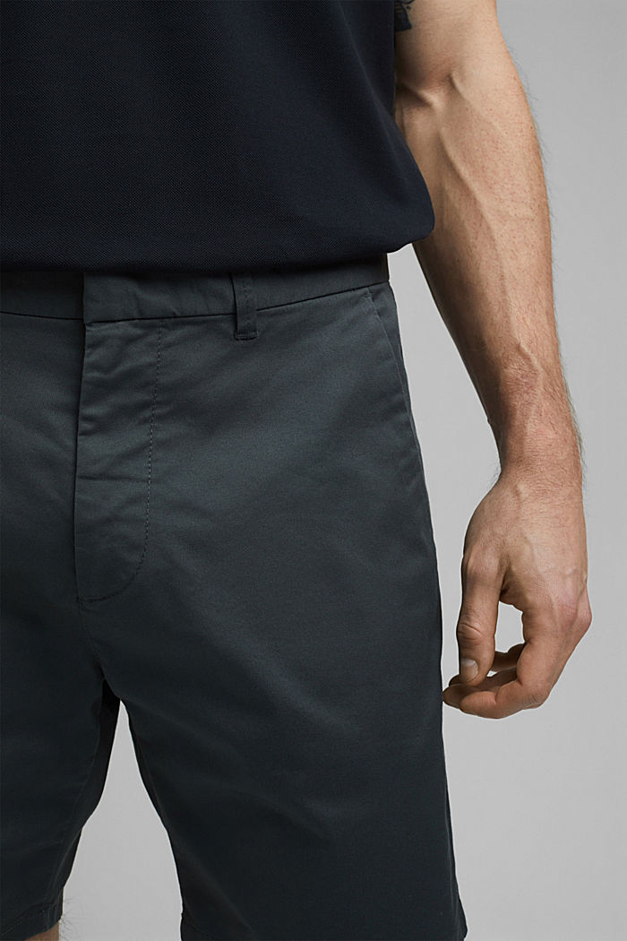 Chino-Shorts aus Bio-Baumwolle/Lycra®T400®, DARK TEAL GREEN, detail image number 2
