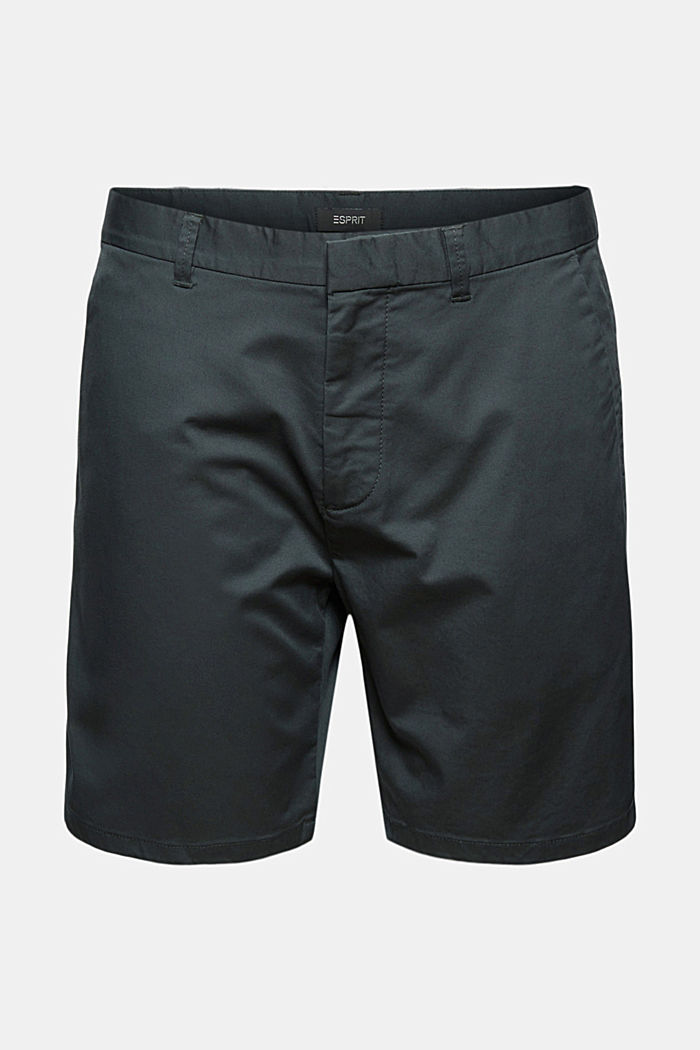 Chino-Shorts aus Bio-Baumwolle/Lycra®T400®, DARK TEAL GREEN, detail image number 7