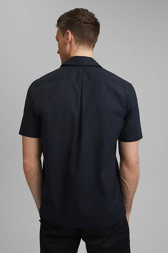 Short sleeve shirt made of 100% pima cotton, BLACK, detail image number 3