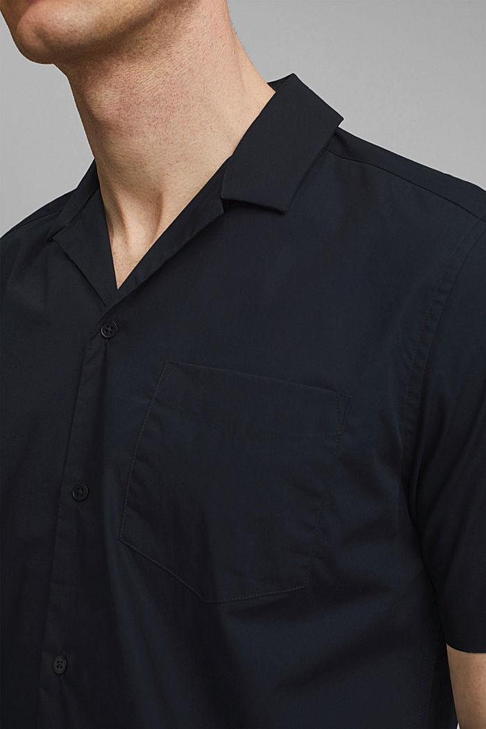 Short sleeve shirt made of 100% pima cotton, BLACK, detail image number 2