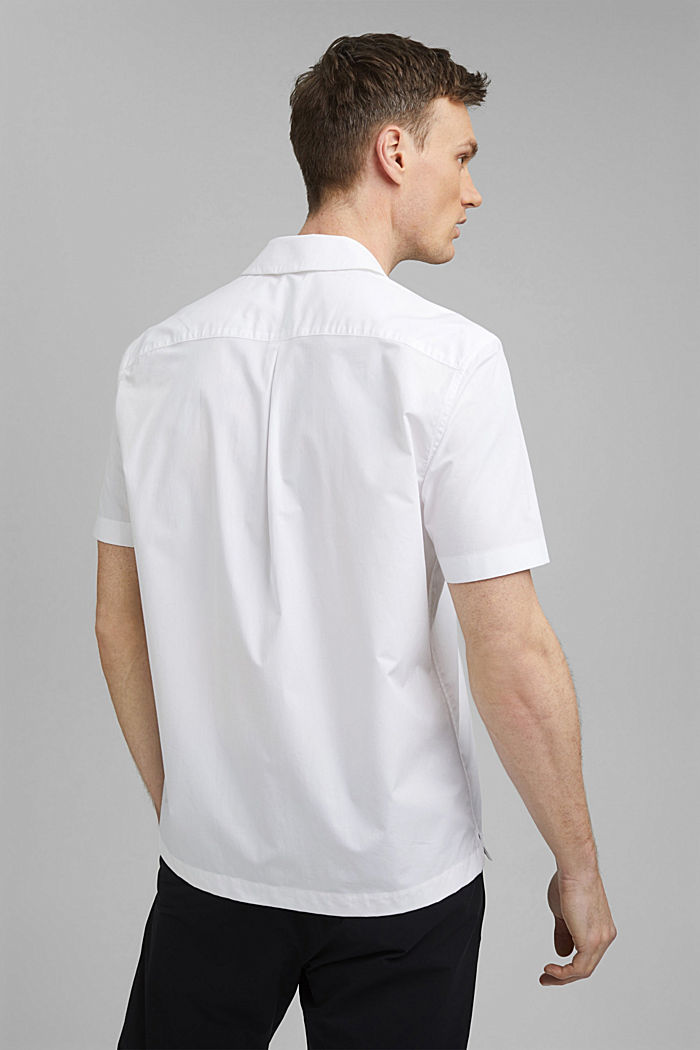 Kurzarm-Hemd aus 100% Pima Baumwolle, WHITE, detail image number 3