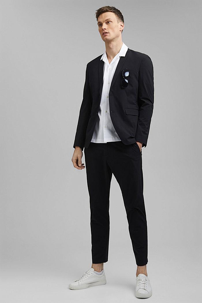Kurzarm-Hemd aus 100% Pima Baumwolle, WHITE, detail image number 1